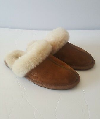 7a5e6325e1da NEW UGG WOMEN S Scuffette Ii Chestnut Suede Slippers Model 5661 Size ...