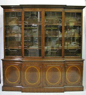 Exceptionally Crafted Custom Made Solid Mahogany Georgian Style Bookcase