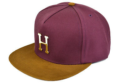 5346200edaef3 Huf Gold Metal H Strapback Cap - Burgundy - Authentic - Imported From Usa