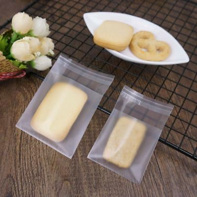 Cookie Packing Scrub Ziplock Bag Plastic Side Gusset Candy Matte Clear Pouch Lot