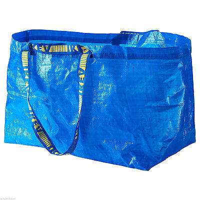 "IKEA Frakta Utility Tote (1) Large 21"" x 14"" Shopping Laundry Travel Bag"