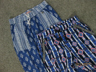 Two Pairs Of Girls Hippy Beach Pants Size 8 Both Barely Worn (If At All)
