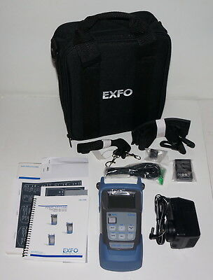 Exfo Fpm-602 Optical Power Meter Light Source Optical Loss Test Set New!