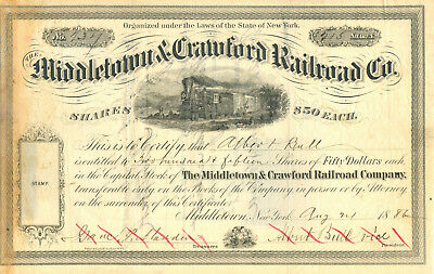 Middletown & Crawford RR 1886