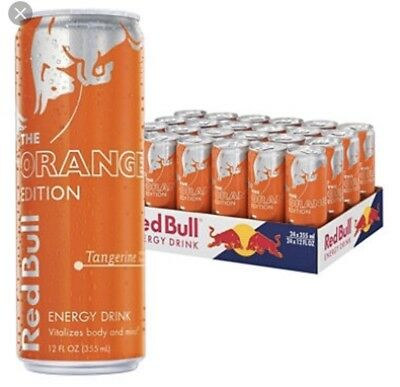 NEW RED BULL THE ORANGE EDITION TANGERINE ENERGY DRINK 8.4 FL OZ 24 in a case