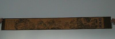 Superb Antique Chinese Painting Scroll On Tigers
