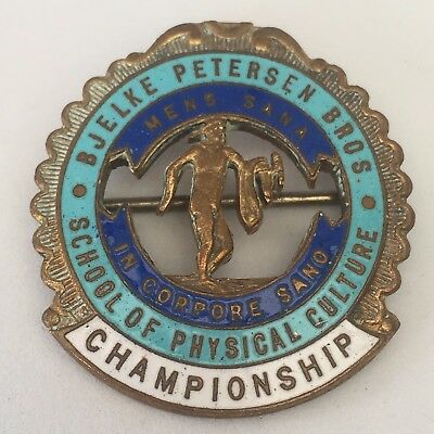 Bjelke Peterson Bros School of Physical Culture Championship Metal Badge/Pin