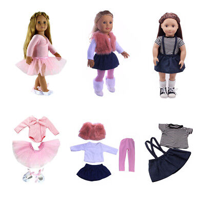 Doll Clothes Dress Outfit Clothes Set For 18'' American Girl Our Generation Doll