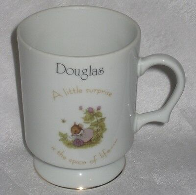 Vintage Tiny Talk Porcelain Footed Coffee Cup - Douglas - A little surprise