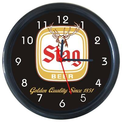 Stag beer Cold Drinks Beverage Beer Logo Sign Round Wall Clock