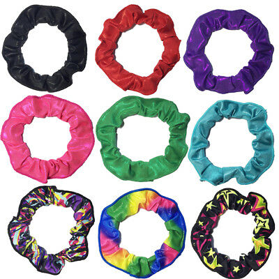 Girl's Kids Shiny Mystique Gymnastics Dance Ballet Hair Scrunchies Hair Elastic