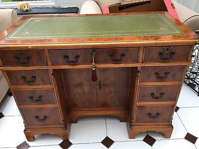 Antique Style Desk with leather top