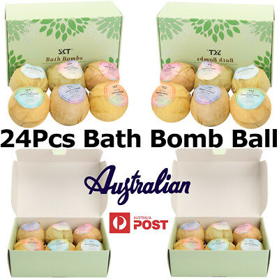 24Pcs Aromatherapy Bubble Bath Bombs with Coconut Oil GIFT Bath