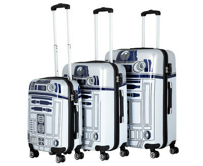 Star Wars R2D2 3-Piece 4W Hardcase Luggage Set - Grey