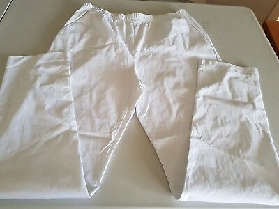 Ladies My Size white Pull Up Pants, Size S
