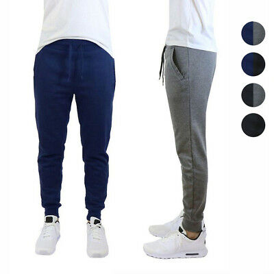 2 Pack Mens French Terry Slim Fit Active Jogger Sweatpants Pants - NEW