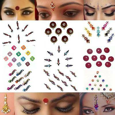 Bindis Indischer Stirnschmu​ck Bollywood Body Sticker Orient Tikka Restposten