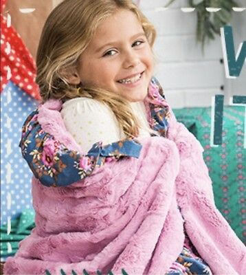 Matilda Jane Clothing Wrap Me Up Throw Blanket Pink Floral 24814A NEW In Bag!!!!