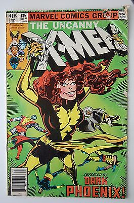 X-MEN #135, 136, 137, 138, 139 Low/Mid grade reader lot, Dark Phoenix Saga!!