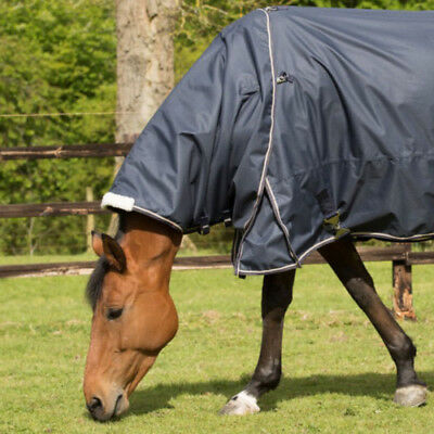 Mark Todd Lightweight Unisex Horse Rug Neck Cover - Navy And Beige All Sizes