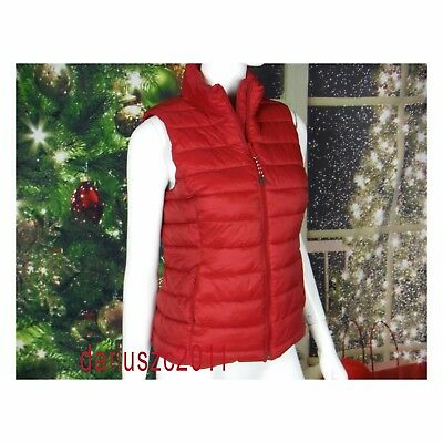 GAP Women's Warmest Quilted Geisha Red Size L  Vest Jacket Coat Christmas Gift