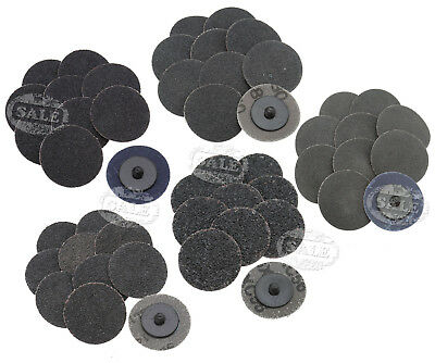 Replacement 50Pcs 2'' Roll Lock Sanding Discs R Type Roloc Mix 24/36/60/80/120