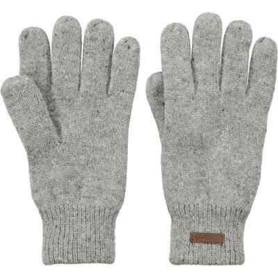 Barts Haakon Unisex Gloves - Heather Grey All Sizes