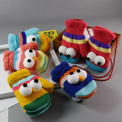 New Cartoon Winter Warm Soft Thicken Gloves Mittens For Kids Baby Child Toddler