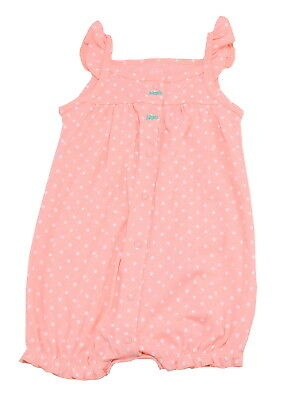 Carters Baby Girls Size 18 Months Sleeveless Octopus Romper, Pink/Multi