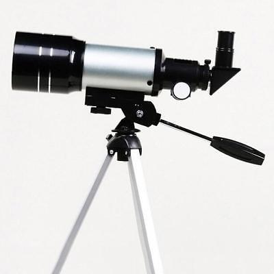 F30070M Telescope Silver with Tripod Barlow Lens Eyepiece Moon Filter