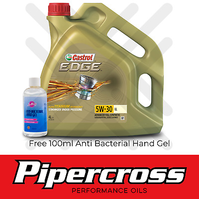 Castrol Edge 5W30 Titanium FST LL 4L 4 Litre Car Engine Oil + 5L SCREENWASH TAB