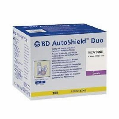 BD AutoShield Duo 0,30mm(30G) 100Pen Needles 1 2 3 6 12 Packs