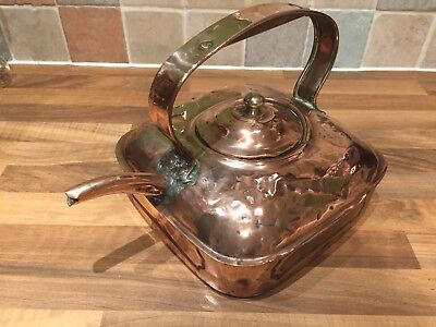 Vintage Brass Ships Boat Square Kettle Nautical Maritime Marine