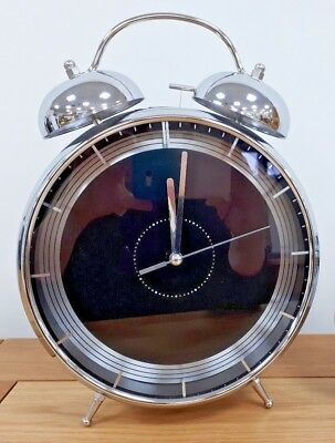 Alarm clock Twin Bell Black and Silver - 2 Sizes