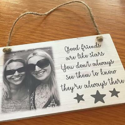 Personalised Plaque Sign Photo Quote Gift Wooden Sign Best Friend Special Unique