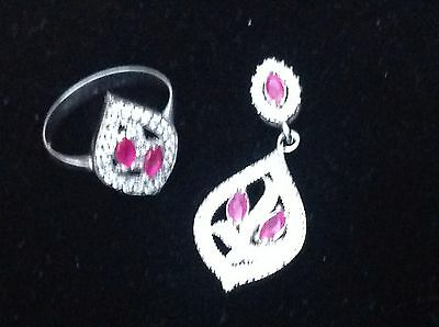 sterling silver 925 pendant and ring set from hurrem sultan collection