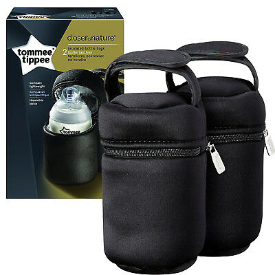 Insulated Bottle Bags Thermo Box Bottles Warm & Cold Feeding On The Go Pack of 2