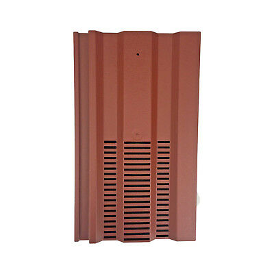 Roof Tile Vent To Fit Redland 49, Marley Ludlow Plus | Red Smooth | 14 Colours