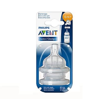 Philips Avent Classic+ Fast Flow Level 4 Teats 6m+ Twin Pack