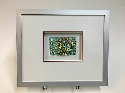 "***NEU*** James Rizzi, Original-3-D Grafik ""Peaceful Love"", inkl. Rahmung"
