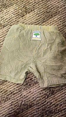 Mulberry Bush size 24 Months Boy Shorts, Green and White Striped