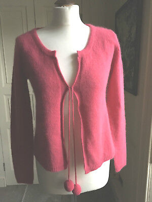 COLLINE vertbaudet maternity pink cardigan with ties & baubles BNWT size 38/40