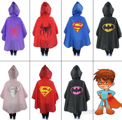 Kids Rain Coat children Raincoat Rainwear,Kids Waterproof Superhero Rainsuit