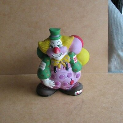 1984 Vintage Hard Plastic Clown Bank Small World Corp.