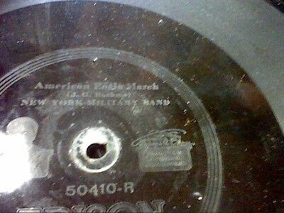 Awesome Edison Early Diamond Disc #50410-The New Colonial March Ny Military Band