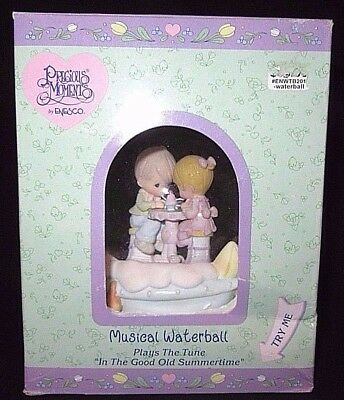 "Precious Moments Musical Water Ball Snow Globe ""In the Good Old Summertime"" NEW"