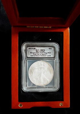 2012 S ICG Certified MS 70 Silver Eagle 1st day of issue #239 of 1236 Gift Boxed