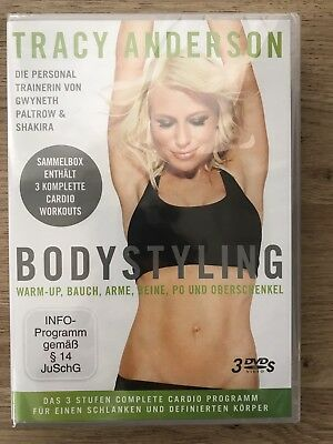 Tracy Anderson Bodystyling DVD,Sammelbox,3 komplette Cardio Workouts,Fitness,NEU