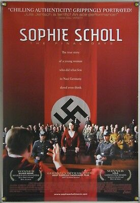 Sophie Scholl: The Final Days Ds Rolled Orig 1Sh Movie Poster Julia Jentsch 2005