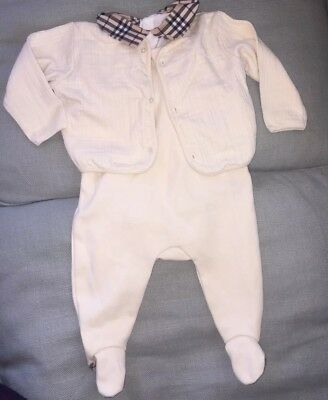 Burberry, Baby, 6m, Unisex, 3-piece, Sweater/shirt/romper, Preowned